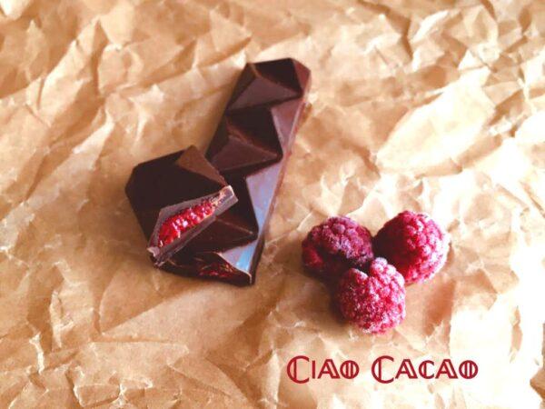 Plněná čokoládová tyčinka Barretta s malinami