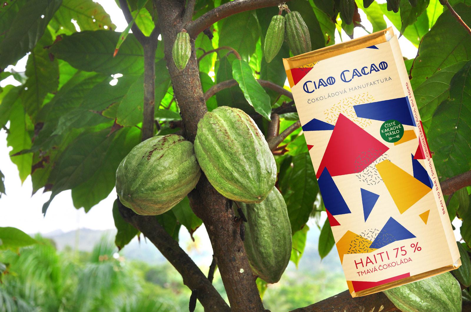 Strom Maman Pye a tabulka čokolády Ciao Cacao