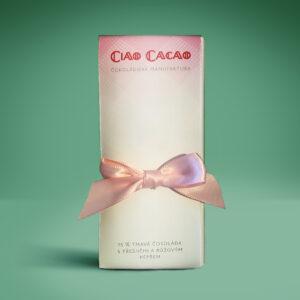 tabulka čokolády - valentýnský speciál s višněmi a růžovým pepřem