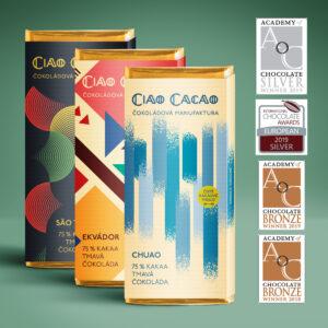 výběr medailových tmavých čokolád