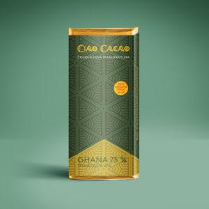 tmavá 75% čokoláda z bobů Ghana