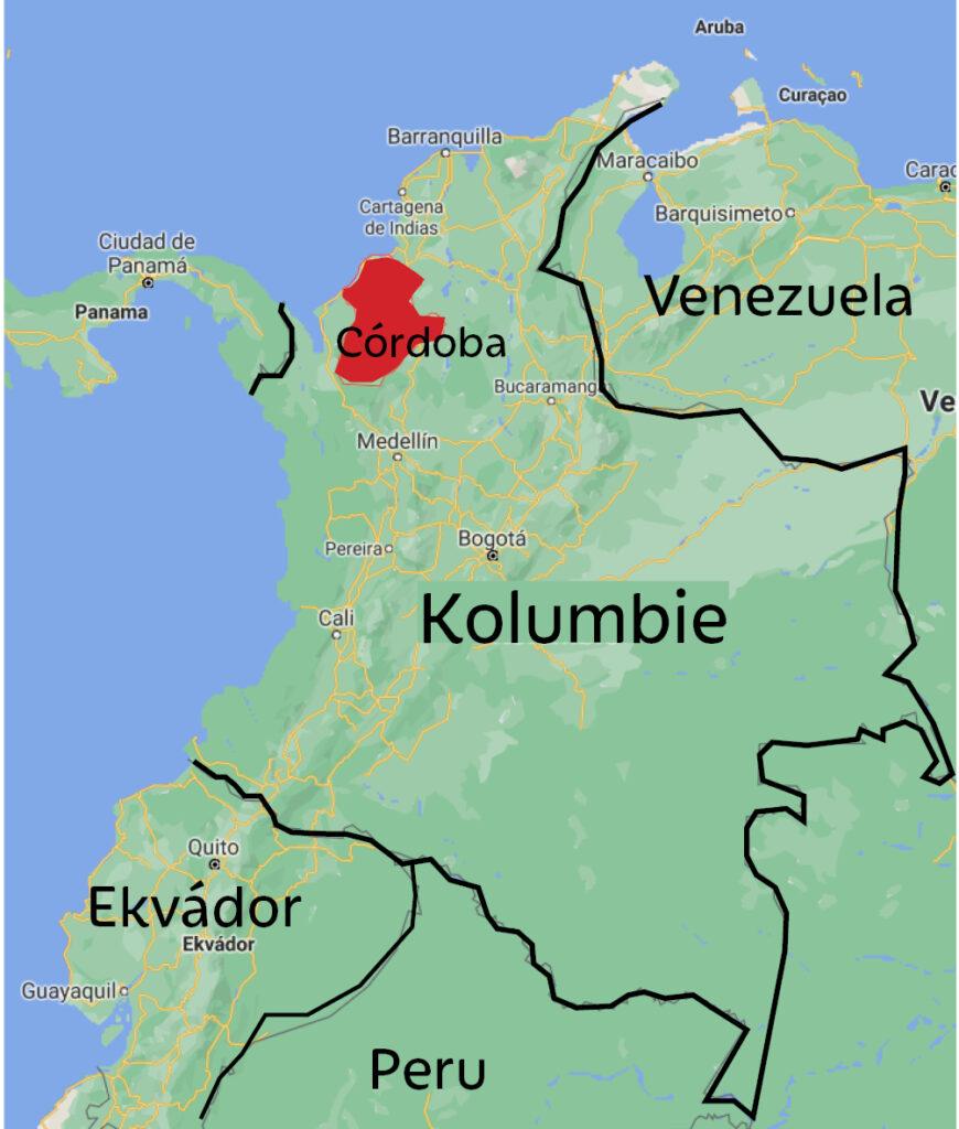Kolumbie oblast Córdoba